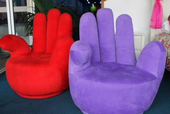 A FUNKY HAND CHAIR